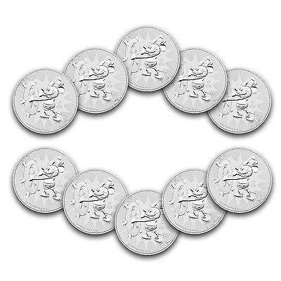 Special Price  2017 Niue 1 Oz Silver  2 Disney Steamboat Willie Bu  Lot Of 10