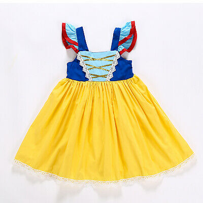 Girls Baby Snow White Princess Costume Fancy Halloween Party Dress Cosplay ZG9 - Infant Girl Halloween Costumes Princess