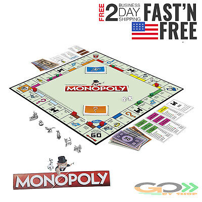 Monopoly The Classic Edition Traditional Family Fun Board Game Original Trading - Board Game Family