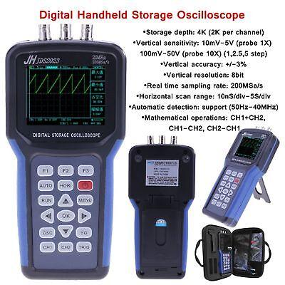 Jds2023 Oscilloscope Usb 20mhz Signal Generator Lcd Digital Multimeter 200msas