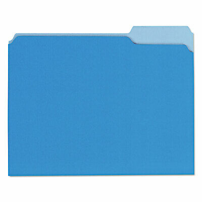 Universal Recycled Interior File Folders 13 Cut Top Tab Letter Blue 100box