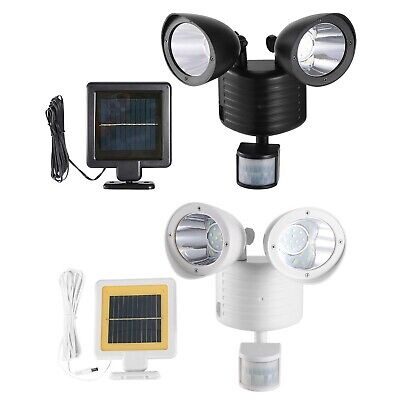 Dual Security Detector Solar Light Motion Sensor 22 LED Floodlight 500lm Outdoor ()