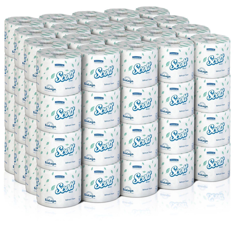 80 NEW! Scott Perforated Toilet Tissue, White, 4'' W x 4.1''