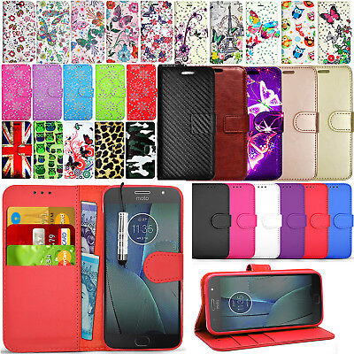 For Motorola Moto G5s Case Wallet Leather Cover Magnetic Book Magnetic + Stylus