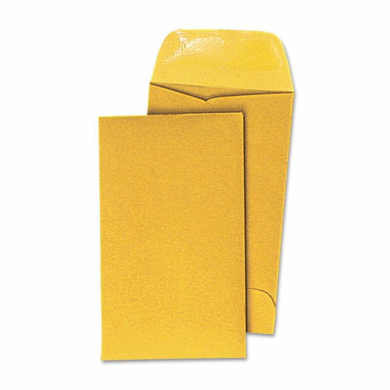UNIVERSAL Kraft Coin Envelope #5 3 1/8 x 5 1/2 Light Brown 500/Box 35302