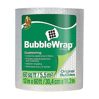 Duck Bubble Wrap Original Cushioning 12 Inches Wide X 60 Feet Long Roll