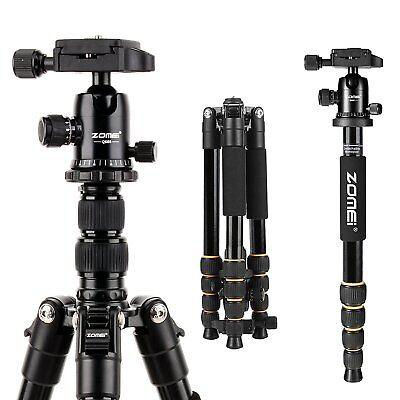 ZOMEI Q666 Stativ einbeinstativ Tragbar 360° Kugelkopf tripod/monopod für Kamera