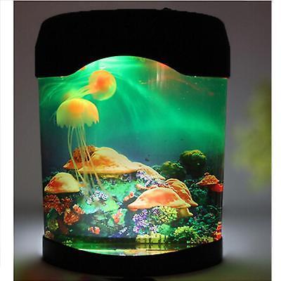 LED Night Light Jellyfish Aquarium Multi Colored Lighting Fish Tank Mood Lamp