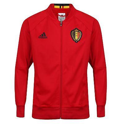 Adidas Belgien Trainingsanzug Oberteil HERREN Fitness Nationalmannschaft Rot XS