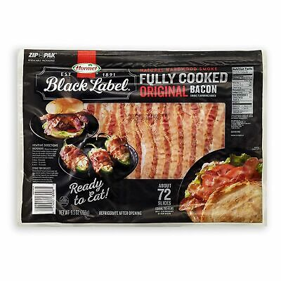 Hormel Black Label Fully Cooked Bacon (72 Slices