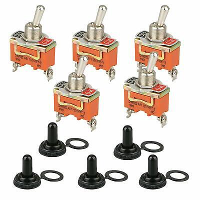 5x Toggle Switch Onoff Heavy Duty 30a 125v Spdt 2 Terminal Car Boat Waterproof
