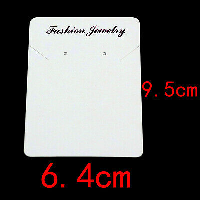 50pcs Paper Necklacecards Earrings Ear Studs Display Jewelry Packaging Cards