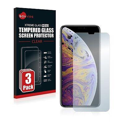 3x Apple iPhone Xs Max Panzerfolie Schutzpanzer Glasfolie Displayschutzfolie