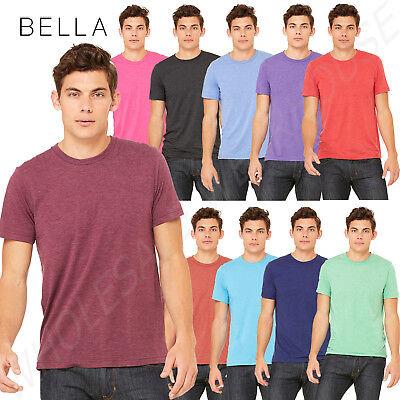Bella Tee Shirts (Bella+Canvas Men's Triblend Short Sleeve Crewneck XS-XL T-Shirt R-3413C )