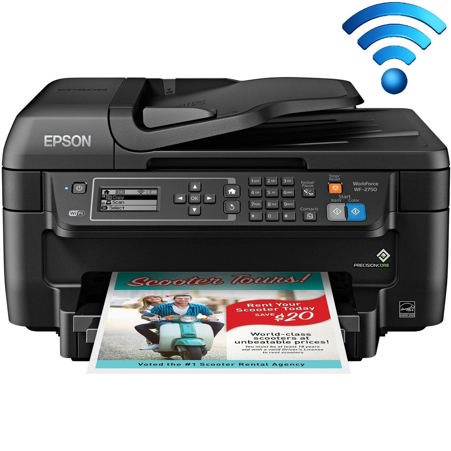 Epson Printer Machine Fax Scanner Copier All-In-One Wireless