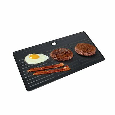 Large Cast Iron Reversible Non Stick Griddle Plate BBQ Grill Pan 40 x 21cm