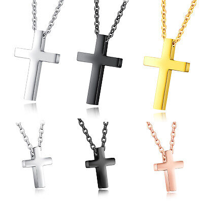 Children Boy Girl Tiny Simple Stainless Steel Cross Pendant Small Necklace Gift - Boys Cross Necklace