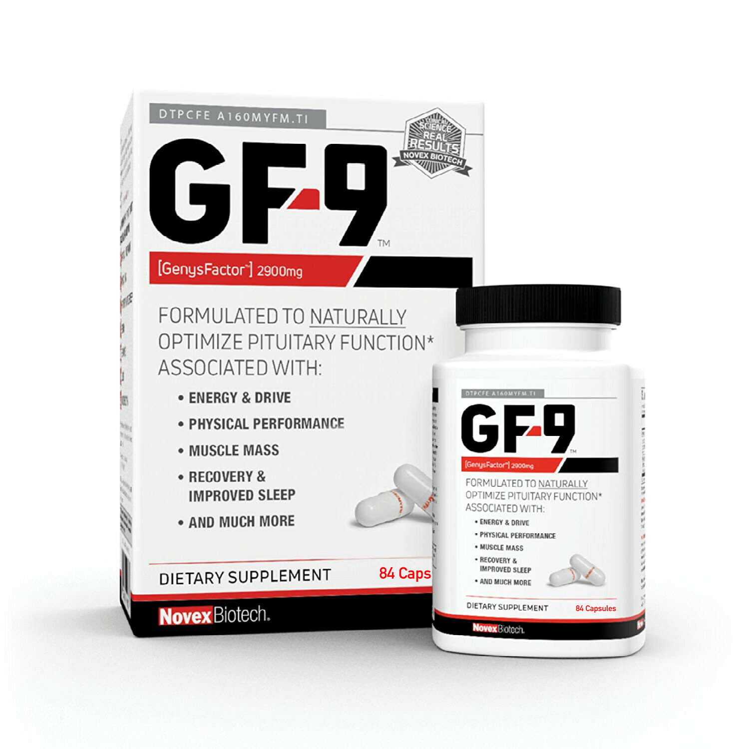 1Novex Biotech GF9 Growth Factor 9 Supplement 84 Capsules FREE SHIP!