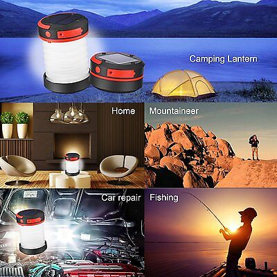LED Campinglampe  Camping Zelt Solar Campingleuchte Laterne Wasserdicht Faltbar