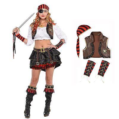 Erwachsene Damen Sexy Schwadroneur Piraten Kostüm Zubehör - Sexy Braune Piraten Kostüme