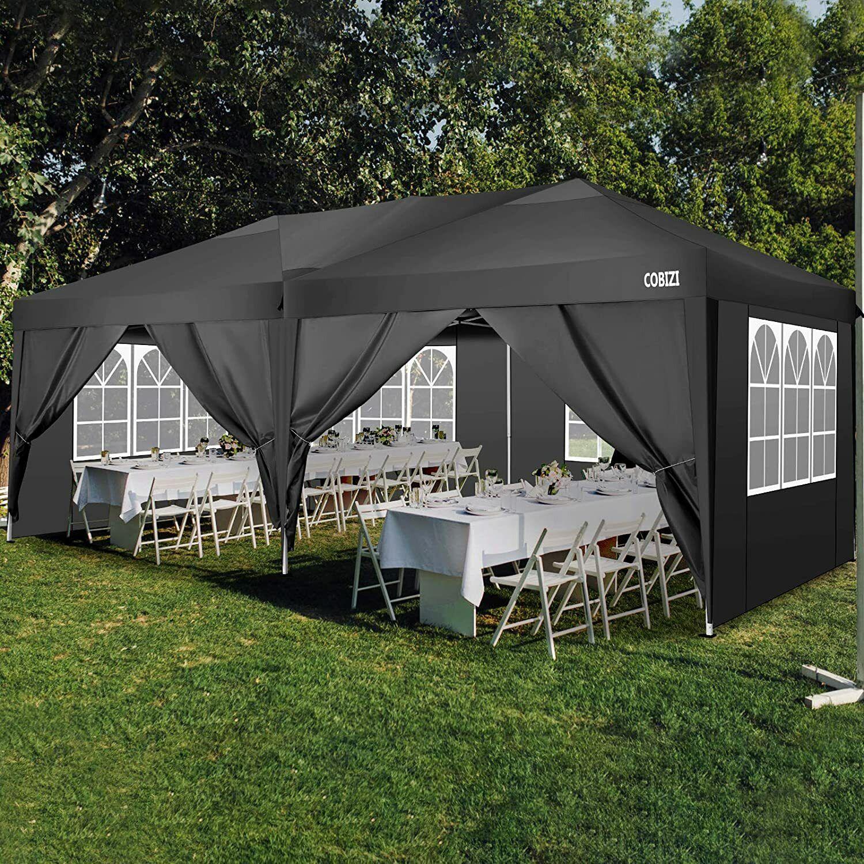 Gartenpavillon Metall 3x6m Faltpavillon Garten Partyzelt Sturmfest WASSERDICHT