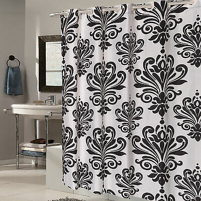 EZ On Beacon Hill Fleur De Lis 70″x75″ Hookless Fabric Shower Curtain/Liner Bath