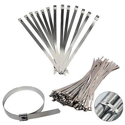 Edelstahl Metall Kabelbinder Reißverschluss Umwickeln Auspuff Hitze