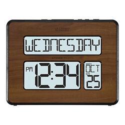 513-1419BL-WA La Crosse Technology Atomic Wall Clock with Backlight Refurbished
