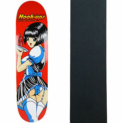 "Hook Ups Skateboard Deck Waitress Trixie 8.0"" with Grip"