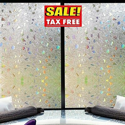 Decorated Window (Window Privacy Film Stained Glass Decorative Home Frosted Static Cling)
