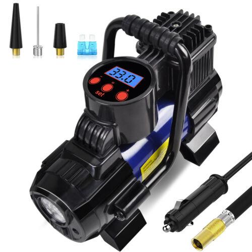 Heavy Duty Portable 12V 1 Car Tire Inflator Pump Air Compressor 140W 150 PSI