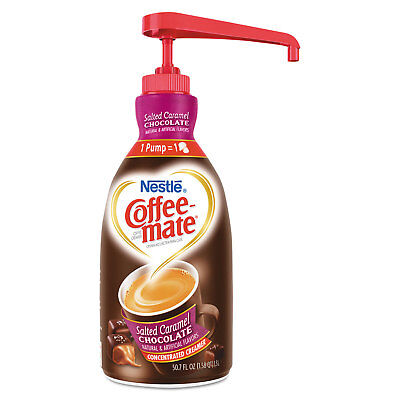 Coffee-mate Liquid Creamer Pump Bottle Salted Caramel Chocolate 1.5 Liter 79976 (Coffee Creamer)