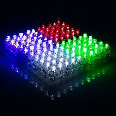 100pcs LED Light Up Finger Rings Glow Kids Children Party Fa