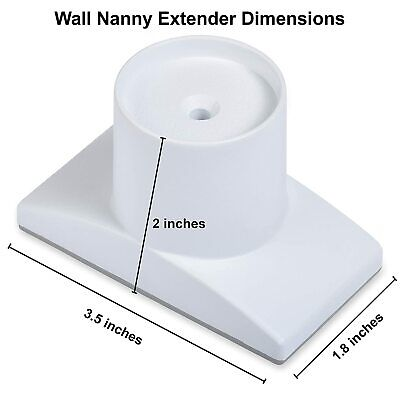 Wall Nanny Extender - 4 Inch Baby Gate Extension (Made in USA) Extends Pressure