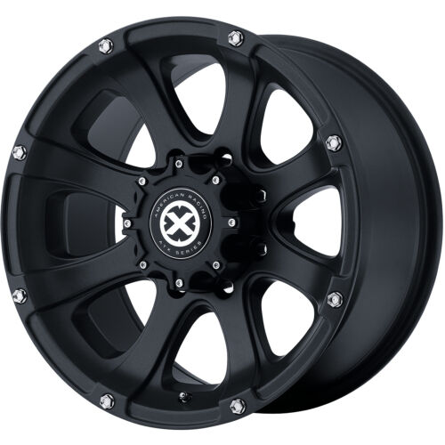 16x8 Teflon American Racing ATX Ledge 5x5.5 +0 Rims All Terrain