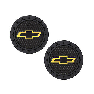 Item Holder - Chevy Logo Auto Cup Holder Coaster 2 PC Set Item