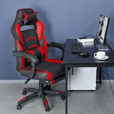 Gaming Chair Ergonomic Office Height Adjustable Computer Swivel Recliner Seat