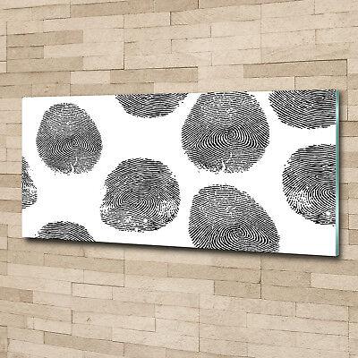 Glas-Bild Wandbilder Druck auf Glas 125x50 Deko Sonstige Fingerabdrücke