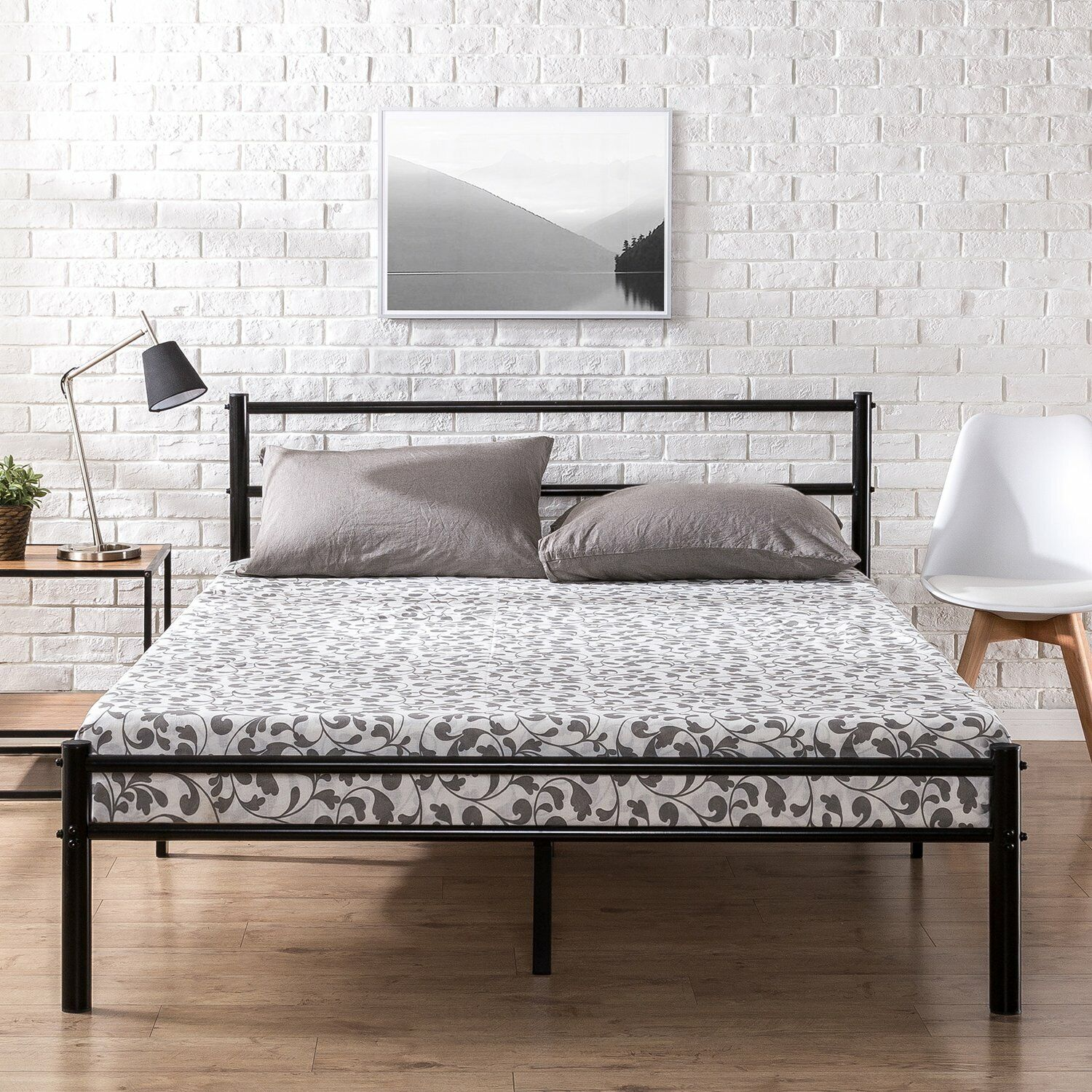 King Size 9 Leg Metal Bed Frame With Headboard Footboard Brackets