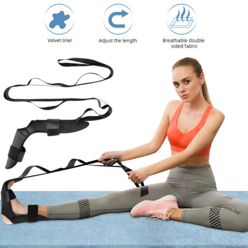 US Yoga Ligament Stretching Belt Foot Drop Strap Leg Training Foot Correct Ankle