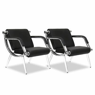 2 Pc Executive Side Reception Chair Office Salon Waiting Room Guest Reception