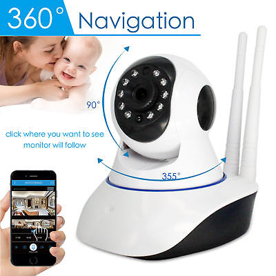 1080P Wireless Wifi Baby,Pet Monitor Panoramic Night Vision Alarm IP CCTV Camera