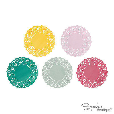 MINI PAPER DOILIES x100 - Doilys/Doily - FULL FLORAL FIESTA PARTY RANGE IN SHOP!