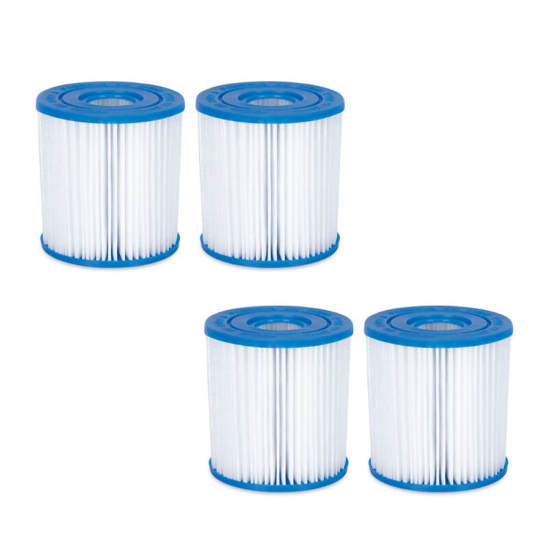 Summer Waves P57100402 Replacement Type I Pool and Spa Filter Cartridge (4 Pack)