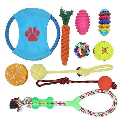 Dog Toys Ball Lot Gift Set Pet Supplies, Variety of Assorted Toys (10-Pack)
