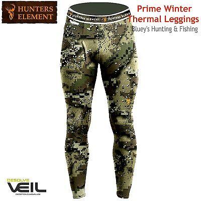 Hunters Element Prime Winter Thermal Hunting Leggings Veil Camo Long-Johns
