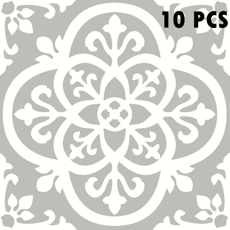 "Square 12x12"" Vinyl Tiles Flooring Peel and Stick Self-Adhesive Water Resistant"