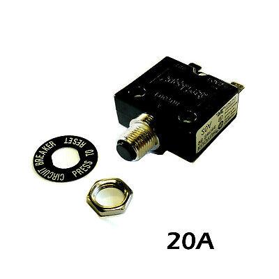 New 20 Amp Push Button Thermal Circuit Breaker 12-50v Dc 125-250v Volt Ac 20a