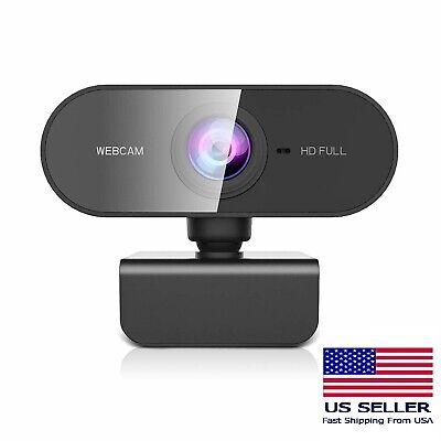 Webcam Full HD 1080P USB Web Camera Built-in Microphone PC Mac Computer Laptop