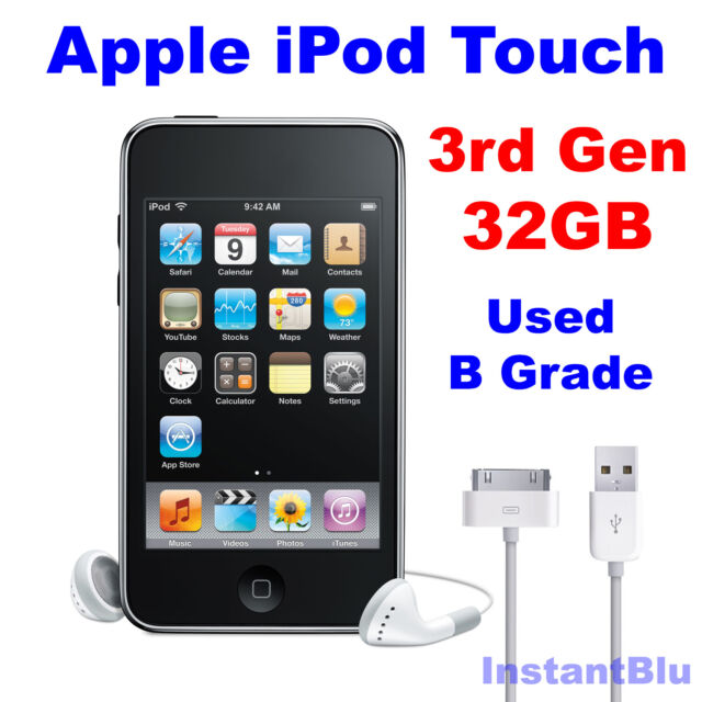 iPod Touch 32GB 3rd Generation Apple  Black Used B Grade MP3 Music Player Gift
